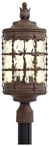 Minka Lavery 8885-A61 3 Light Outdoor Post Mount, Vintage Rust Finish