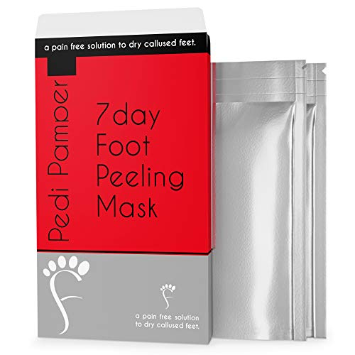 2 Pairs Foot Peel Mask (peel hard, dry, dead skin) - Baby Soft Feet in 1 Week, Exfoliating Booties for Peeling Off Hard Dead Skin On Your Feet. Men and Women. Results Guaranteed!