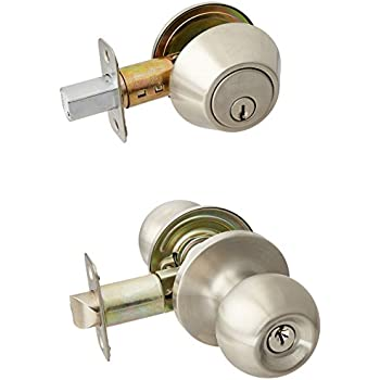 3 Sets of NuSet Keyed Alike Entry Door Knob with Single Cylinder ...