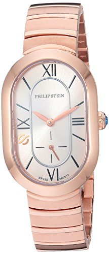 Philip Stein Women's 'Modern' Swiss Quartz Tone and Gold Plated Casual Watch(Model: 74RGP-CW-MSSRGP)