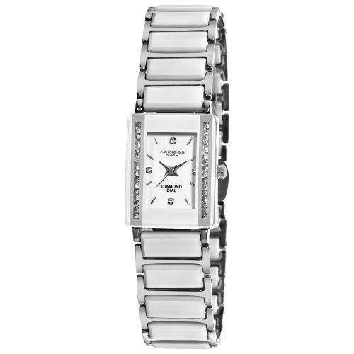 Diamond Self Winding Bracelet (Akribos XXIV Women's AK522SS Ceramic Rectangular Quartz Bracelet Watch)