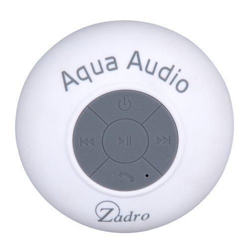 Zadro The Original Aqua Audio Water Resistant Bluetooth Wireless Shower Speaker, White