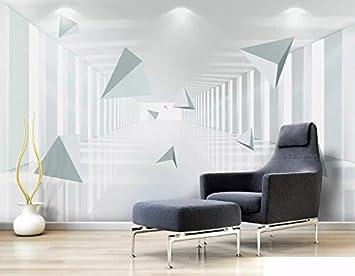 HHCYY Geometrischer Raum Des Gewohnheits-3D Tapeten Wohnzimmer ...