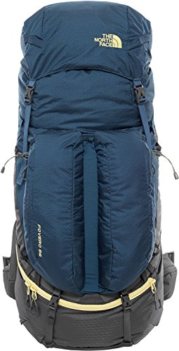 North Face Fovero 85 Hiking Backpack Small/Medium Monterey Blue Goldfinch Yellow