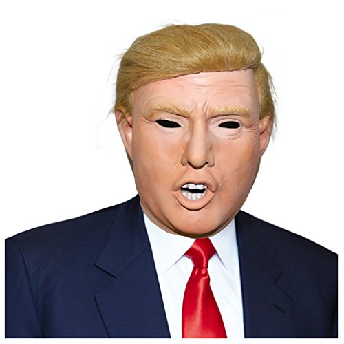 Celebrity Halloween Costumes For Kids (Donald Trump Celebrity Latex Mask Ideal for Halloween Party Costume Novelty Mas)