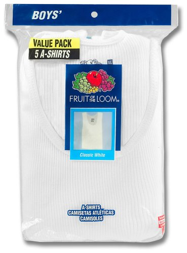 Fruit of the Loom Big Boys' A-Shirt Tank Pack