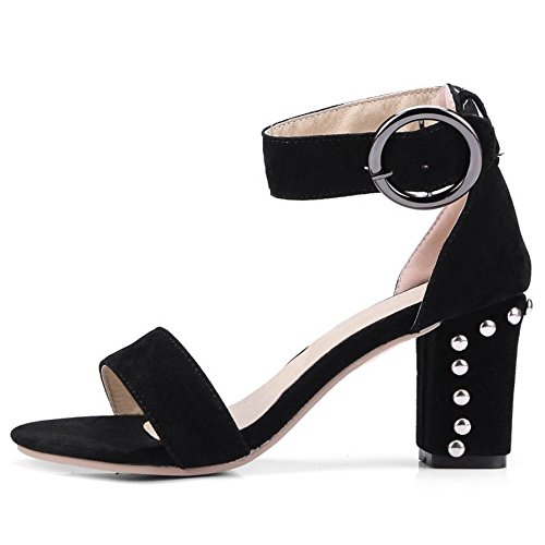 Black Mode Femmes Sandales Ouvert Talons Bout Taoffen 1ZwzTq