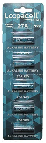(Loopacell 12 Volt Alkaline Alarm Remote Battery MN27/A27 5)