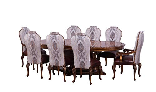 Bellagio Dining Set - European Furniture 9 Pieces Bellagio Dining Set