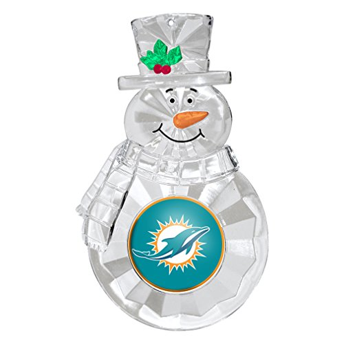 - NFL Miami Dolphins Traditional Snowman Ornament