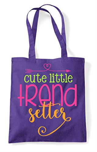 Setter Tote Shopper Trend Purple Bag Little Cute SqwzUnT7x