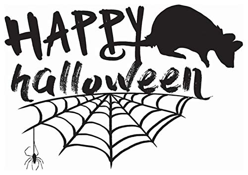 Kuqime Wall Stickers Decal Removable Vinyl Decal Quote Art Happy Halloween for Halloween