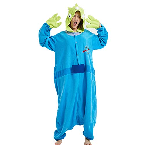 Sweetdresses Adult Unisex Animal Sleepsuit Cosplay Costume Pajamas for Halloween (M, Toy Story Aliens) ()