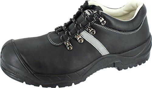 Sicherheits-Halbschuh Sicherheits-Schuh Arbeitsschuh BARI1 - Weite 12 - DIN EN ISO 20345:2011 - S3 SRA - schwarz - Größe: 43