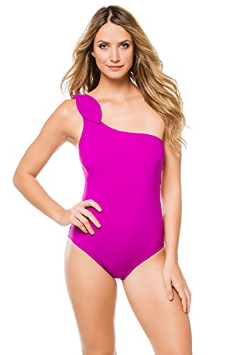 Karla Colletto Women's Asymmetrical One Piece Swimsuit Dahlia 6 by Karla Colletto