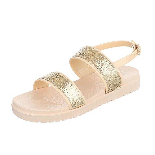 Ital-Design - Sandalias Romanas Mujer dorado