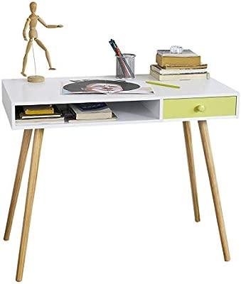 SoBuy® - Escritorio con dos cajones, porta PC, mesa para ordenador ...
