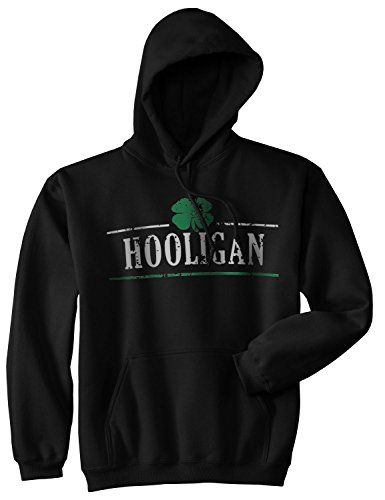 Crazy Dog TShirts - Hooligan Shamrock Funny St. Patrick's Day Unisex Drinking Hoodie For Paddys Day - Divertente Felpa Con Cappuccio