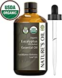 Best Eucalyptus Essential Oil Pure Certified Organic Therapeutic Grade...