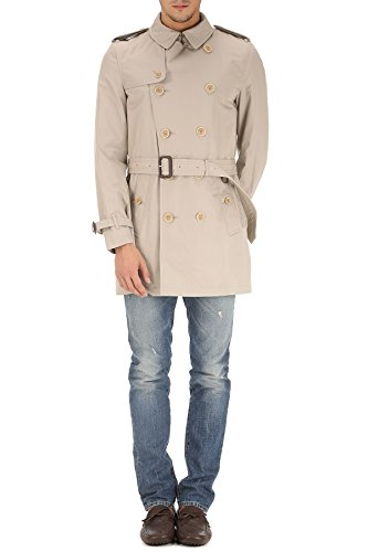 Burberry Men's 3950393 Grey Cotton Trench Coat - Burberry Coat Men