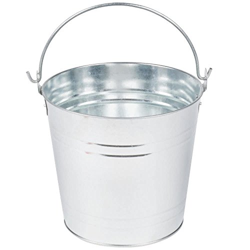 - American Metalcraft PTUB87 Natural Galvanized Steel Pail with Handle, 1.16-Gallon, 8