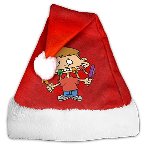 Christmas Hats Cartoon Pictures of Junk Food Santa Claus Hats Party Decoration for Adults and Children
