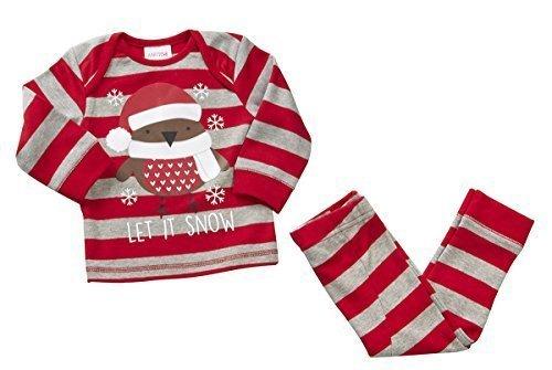 Bebé Niño Pequeño Cascabel Cascabeles Let it Snow Robin Novedad De Navidad Pijama rallas desde 6 a 24 Meses Rayas