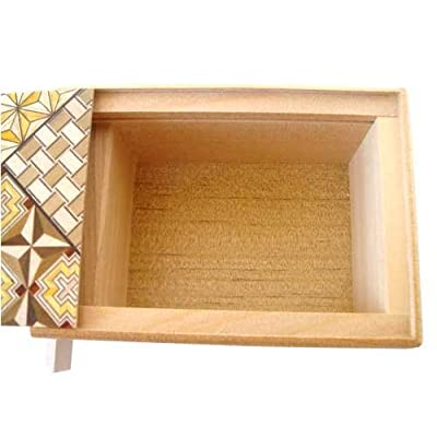Bene Gifts Japanese Yosegi Puzzle Box 5 Sun 21 Moves: Toys & Games