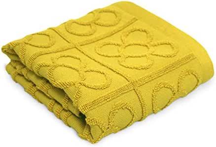 COTTONREUS Paño de cocina color Mostaza Flor de Barcelona de 50 x 50 cm, 100% algodón de 500 gramos y rizo en relieve con el dibujo de la flor de Barcelona.: Amazon.es: Hogar