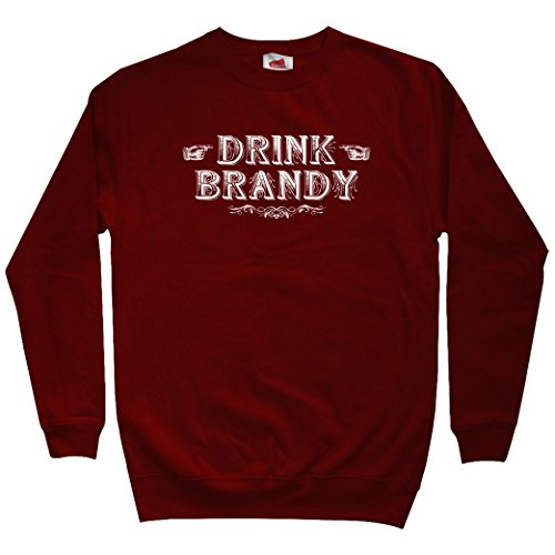 Smash Transit Men's Drink Brandy Sweatshirt - Maroon, XX-Large