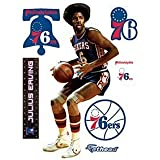 NBA Julis Erving 76ers Fathead? Teammate by Fatheads