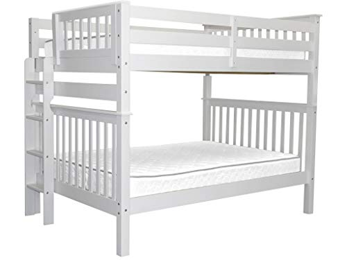 (Bedz King Bunk Beds Full over Full Mission Style with End Ladder,)