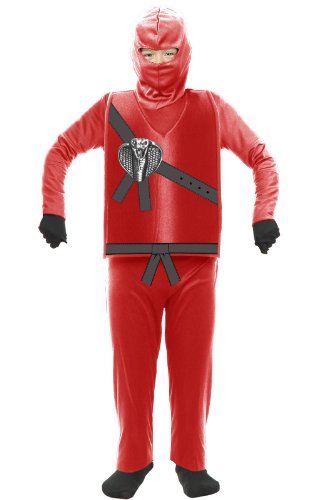 Charades Kid's Child's Ninja Avenger Costume Childrens Costume, red, X-Small ()