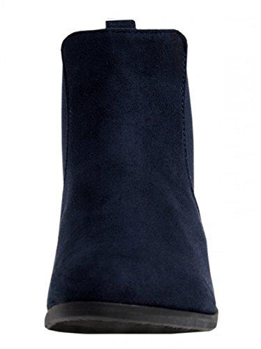 Femme Sbo054 Pour Vintage Chelsea Bottines Bleu Caspar Foncé dXpwqSWBB