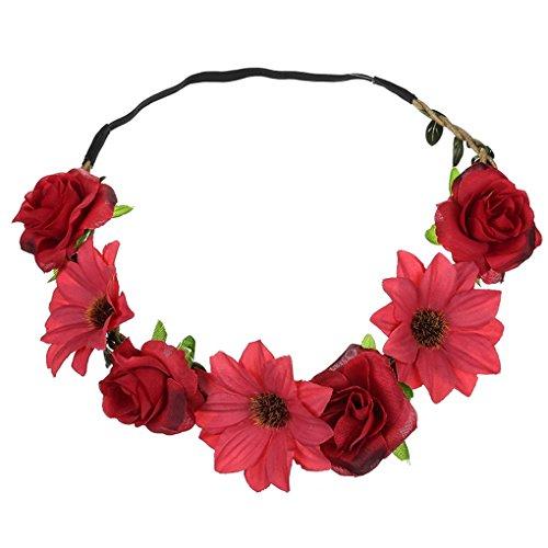 Acmede Pour Fleurs De Couronne Style Bandeau Floral Vacances 4 Mariage 1 Cheveux Plage Mariée 2 Lot Femme Photographie rCpqfxnr