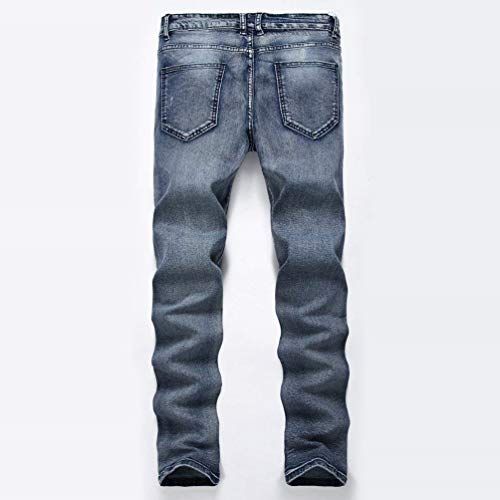 Skinny Mezclilla Look Vaqueros Los Jeans Fit Pantalones Jeans Slim Hombres De Pantalones Destruido De Stonewashed Graublau Biker Used Casuales Pantalones Strech TFx7w0nq
