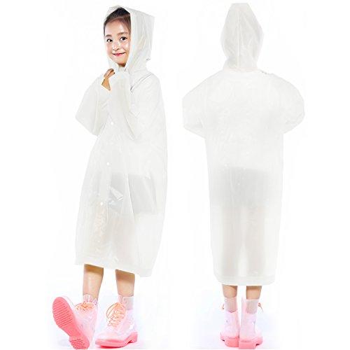 Indumenti 2 nbsp;pezzi Cappotto E Esterna Giacca Rain Impermeabile Per Poncho Maniche Con Bambini Impermeabili Kids Cappuccio White Keesin fFCqYa
