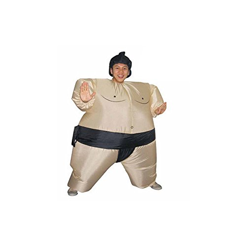 WDDH Inflatable Adult Sumo Wrestler Wrestling Suits Halloween Fancy Dress -