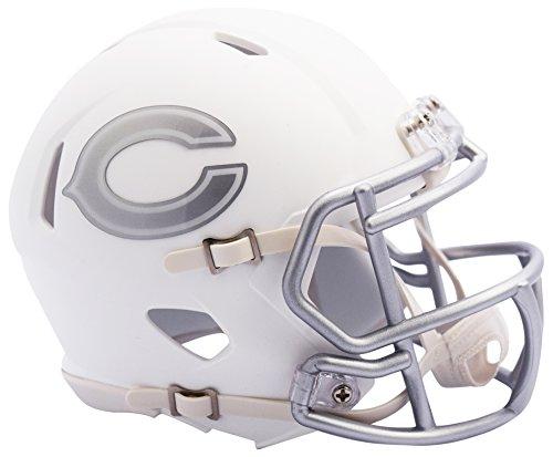 NFL Chicago Bears Riddell Ice Alternate Speed Mini Replica, Silver, (Chicago Bears Mini Helmet)
