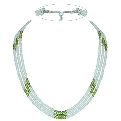Faceted Roundel Bead Necklace - 6