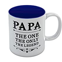 PAPA The One The Only The Legend Coffee Mug - Best Fathers Day Gift for Dad or Grandpa, Great Birthday Present Idea for Fathers or Grandfathers From Son, Daughter, Wife or Grandchildren, Cool Novelty Gift for Him Ceramic Mug