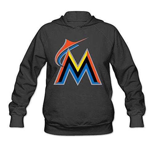 ausin-womens-miami-sport-logo-marlins-hoodie-black-size-s