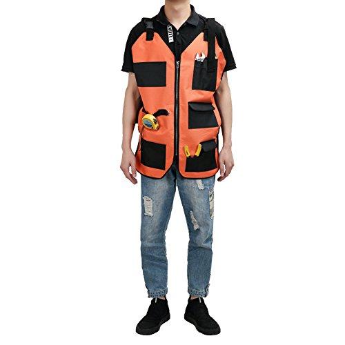 Canvas Pro Tool Vest with Many Multi Pockets - Electrician Carpenter Framer Plumber Construction Surveyors Work Vest Bag HSW-104