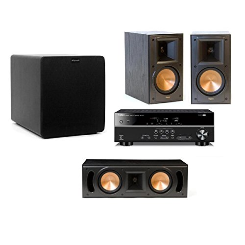 Klipsch RB-51 II Reference Series 3.1 Channel Speaker Package with Yamaha RX-V377 5.1 Channel AV Receiver