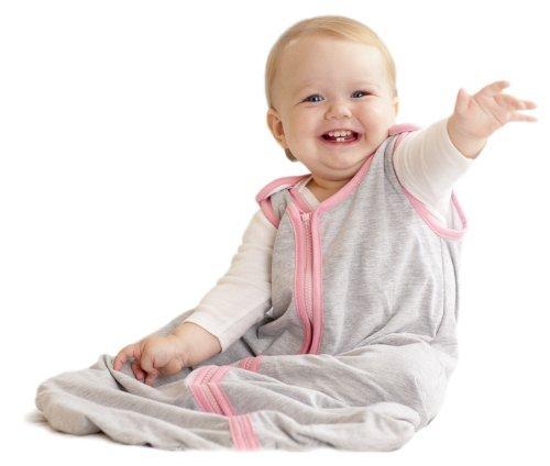 Baby Deedee Sleep Nest Lite Baby Sleeping Bag, Heather Gray Bubble Gum, Small (0-6 Months) [並行輸入品]   B07GB5R7HG