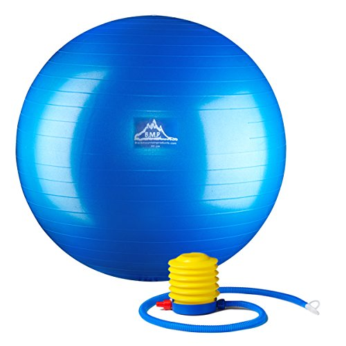 Black Mountain Products Professional Grade Stability Ball, Blue, 75cm