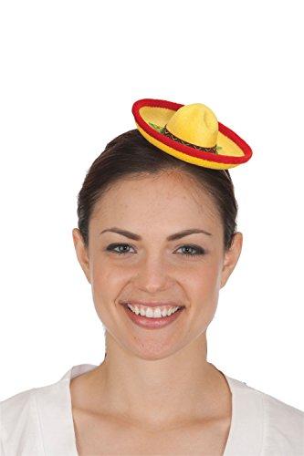 Jacobson Hat Company Women's Mini Felt Sombrero, Yellow, Adult (Felt Sombrero)