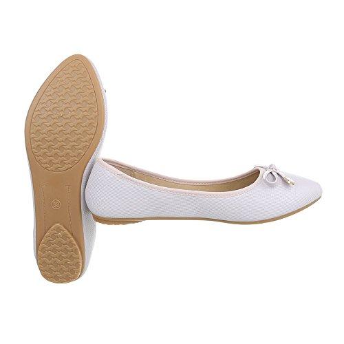Beige altas Plano para Zapatos Design Ital mujer Zapatillas Zapatillas qHPZ8