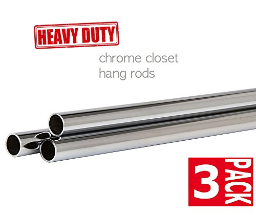 (Only Garment Racks Round Tubing with 1-1/4 Diameter Polished Chrome Finish, 54