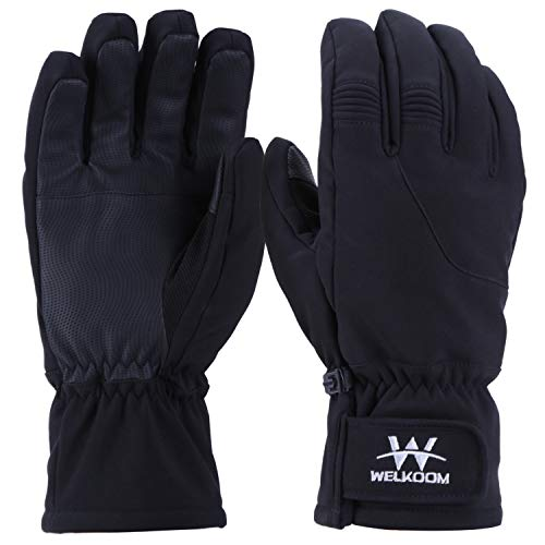 Dragon Squama Mens Ski Gloves, Waterproof 3M Thinsulate Thermal Warm Windproof Snow Sport Skiing Snowboarding, Winter Cold Weather Glove (black2, XL)